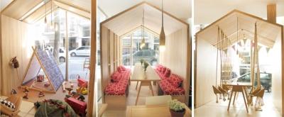 Fiii Fun House Café donde los asientos son columpios de madera